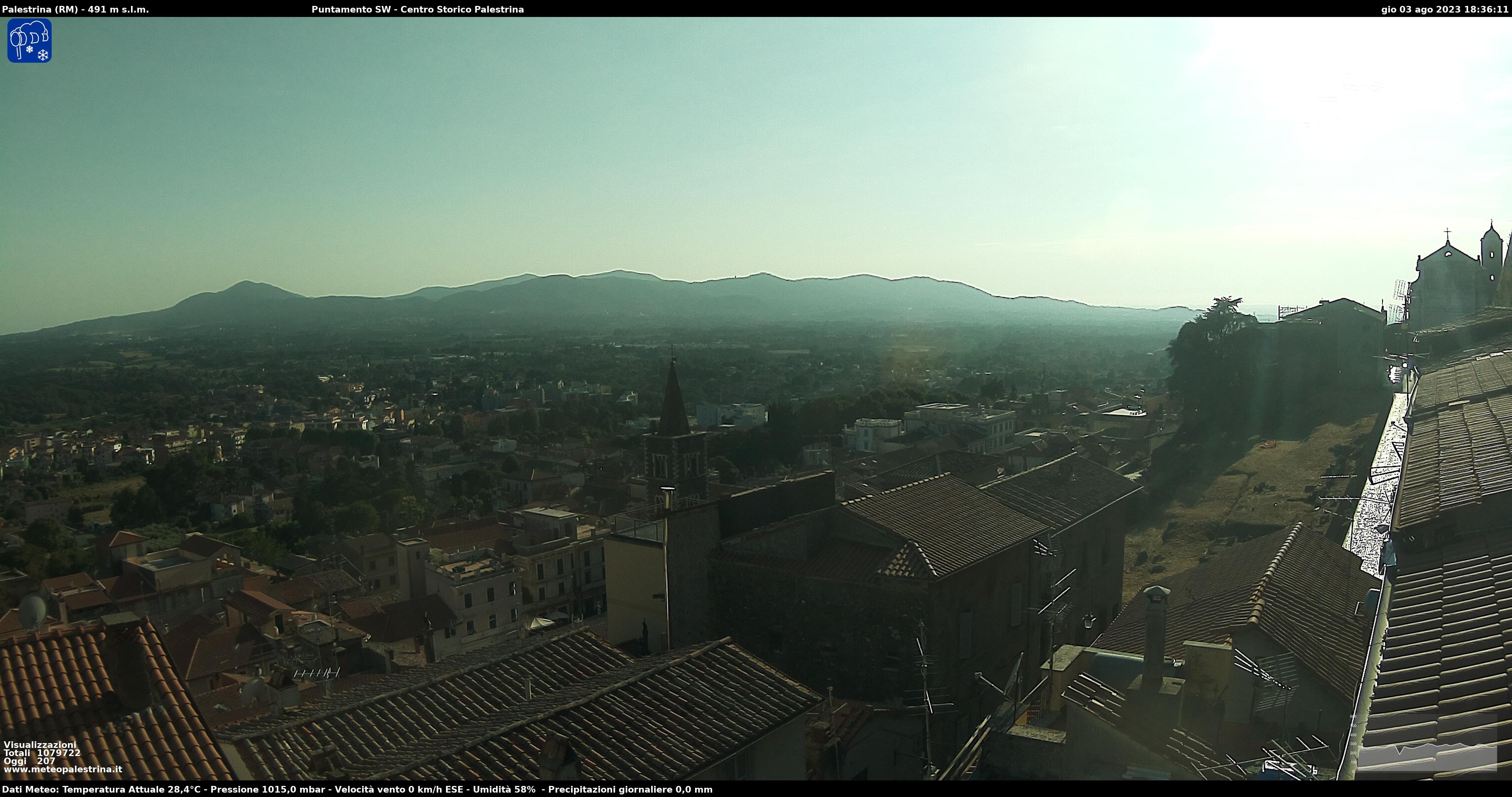 Panoramica sulla Campagna Romana e sui Castelli Romani